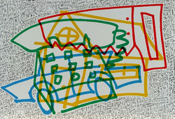 Untitled (house, car, saw, phone)