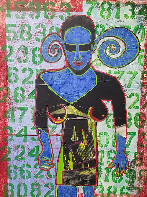 $30/mo My Mind is Full of Random Thoughts by Jara Mohlman 40x30