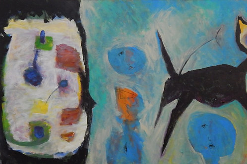 $40/mo Black Cat by Peter Juvonen 34x72