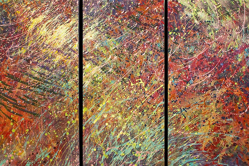 Out of Stock $120/mo Untitled 1 by Barbara Ohno 48x72 (triptych)
