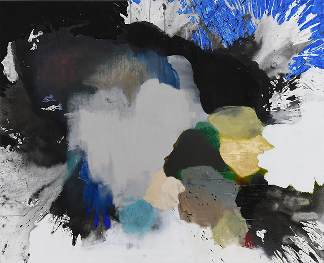 Torrent_46x56_Acrylic,Ink,Tempera-on-Can