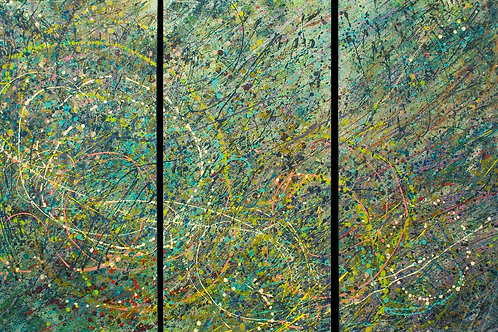 Out of Stock $120/mo Untitled 3 by Barbara Ohno 48x72 (triptych)