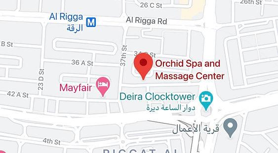 Orchid Spa and Massage Center Location Near Al Rigga Deira Dubai