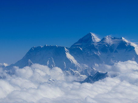 Mountain Flight Over Himalayan Glaciers