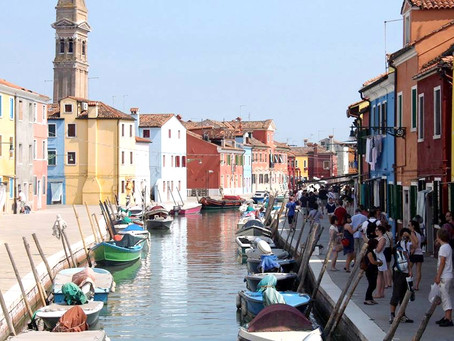 Colourful Burano in Venetian Lagoon