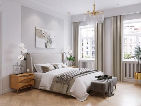 Sunny apartment in a rainy city