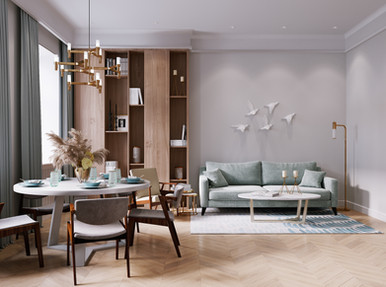 Apartment in soft colors in St. Petersburg
