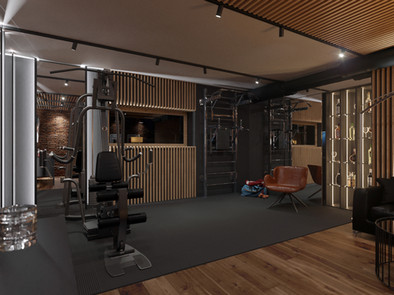 Gym in private house