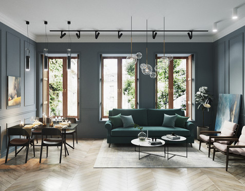 Classic chic stylish apartment by Cartelle Design