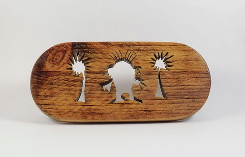 """Lorax and Truffula Trees"" Wooden Soap Dish"