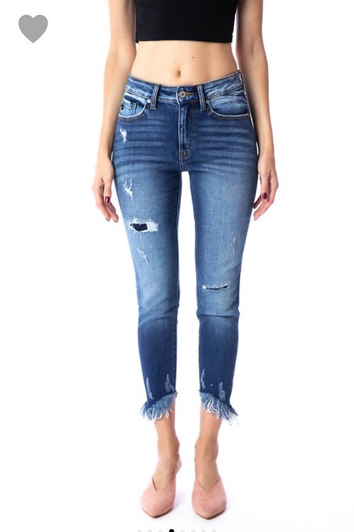 Kan Can patch jeans