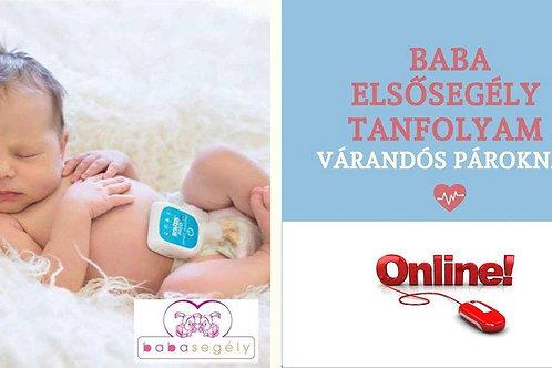 Online babaelsősegély tanfolyam várandós pároknak