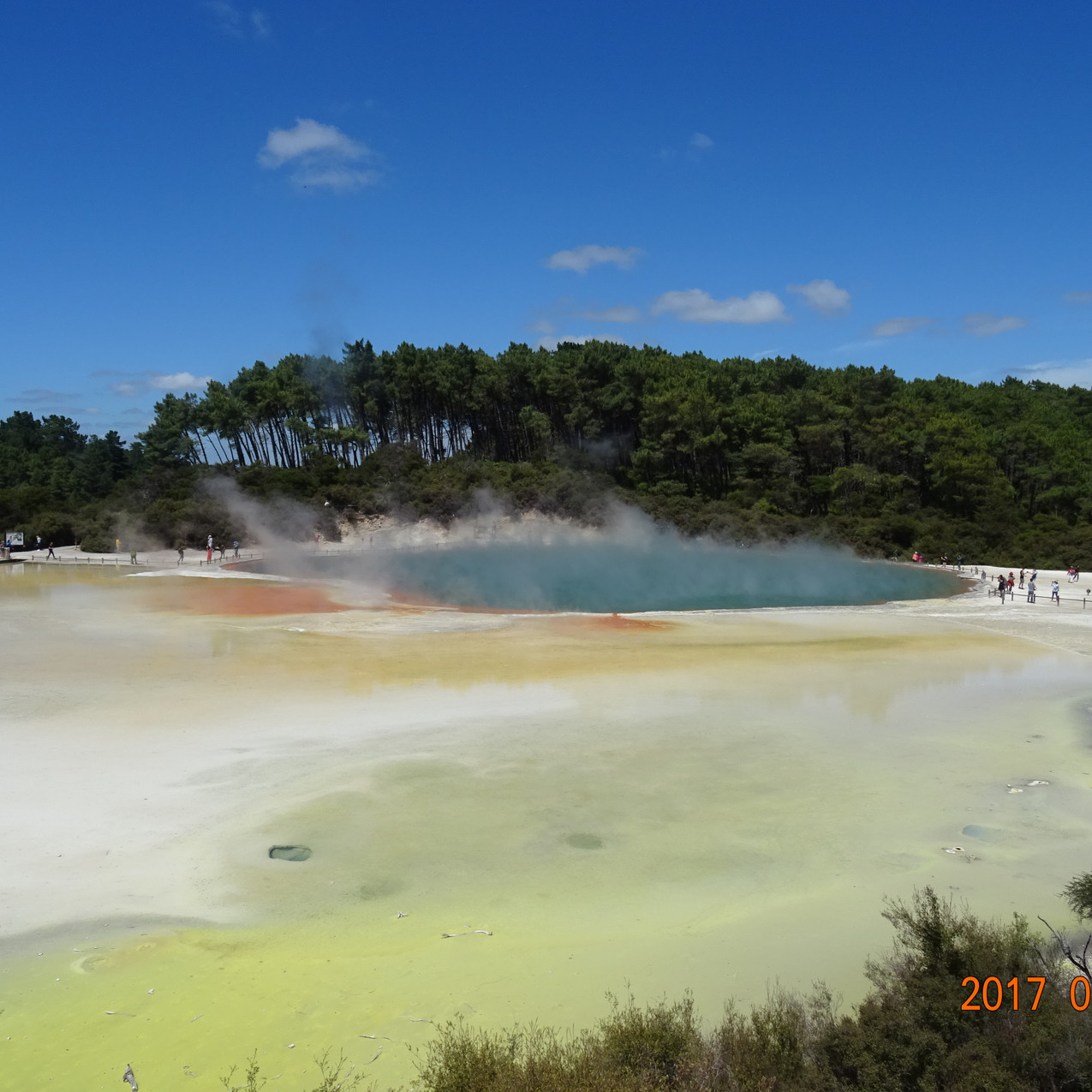 Photo 13. Geothermal activity at Wai-O-Tapu thermal wonderland