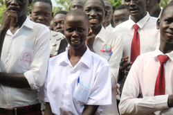 Abukloi students at assembly