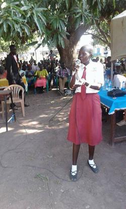 Marian at debate on Girls' Rights
