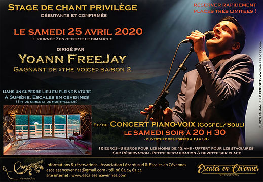 Master Class Yoann Freejay the Voice Montpellier