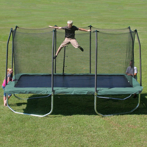 Summit 14-foot Rectangle Trampoline with Enclosure