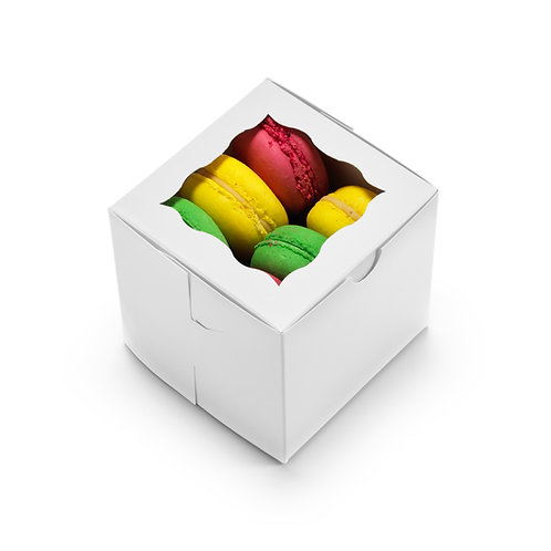 Bakery Boxes 4x4x4 [Pack of 50]