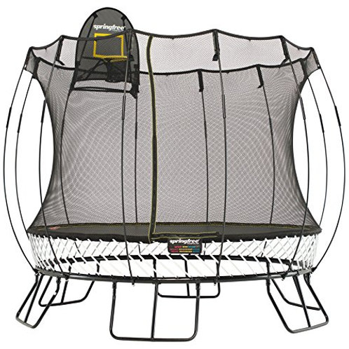 SPRINGFREE 10-FOOT ROUND TRAMPOLINE WITH BASKETBALL HOOP AND LADDER