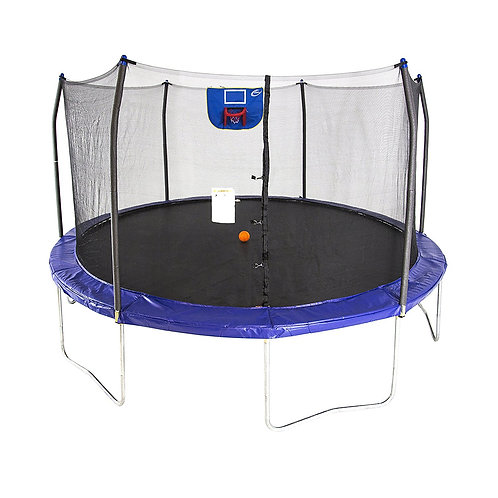 SKYLWALKER 15-FOOT ROUND TRAMPOLINE WITH ENCLOSURE