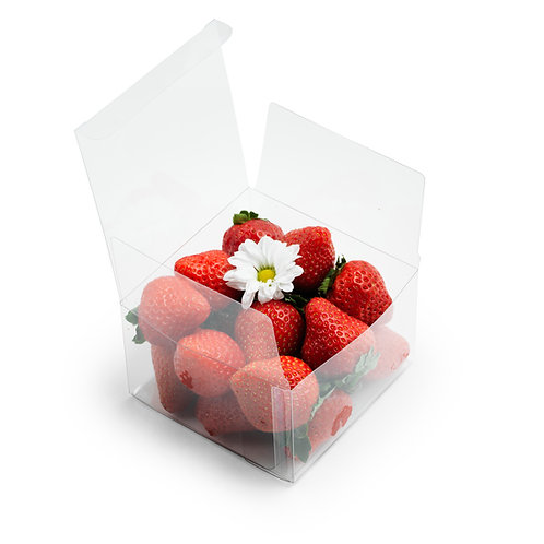 Clear Plastic Boxes 4x4x2.5 [Pack of 50]