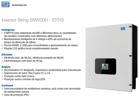 KIT SOLAR WEG (15,0KWp) INSTALADO! (Energia suficiente para contas até R$1.800,)