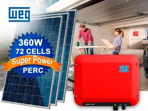 KIT SOLAR WEG (3,75KWp) INSTALADO! (Energia suficiente para contas até R$400,00)