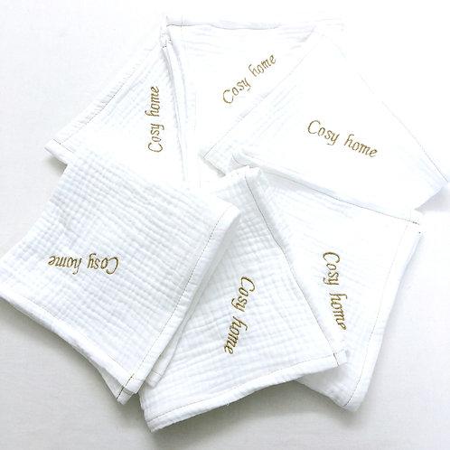 Serviette de table en gaze de coton personnalisable