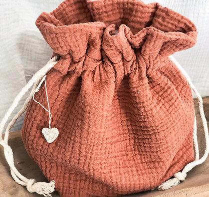 Pochon en gaze de coton personnalisable