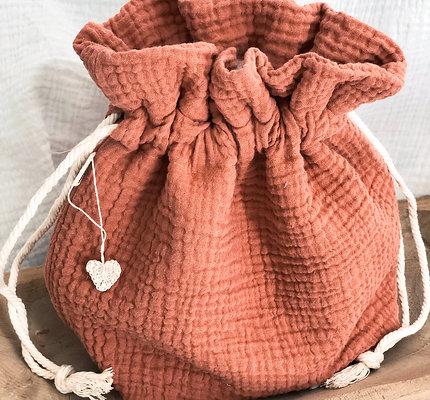 Corbeille à pain en gaze de coton souple