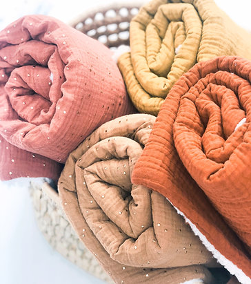 Couverture  hiver en gaze de coton personnalisable