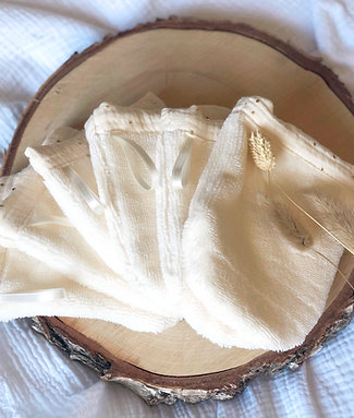 Gant de toilette éponge de bambou - 2 tailles