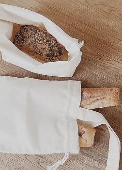 Sac à baguettes et petit sac à pain