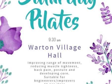 Saturday Pilates in Warton - 4 places available