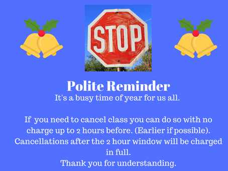 Class Cancellation Policy