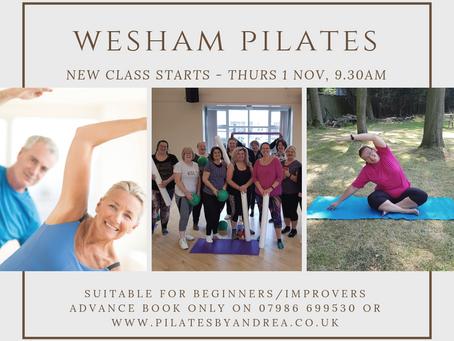 New Wesham Classes start 1st November