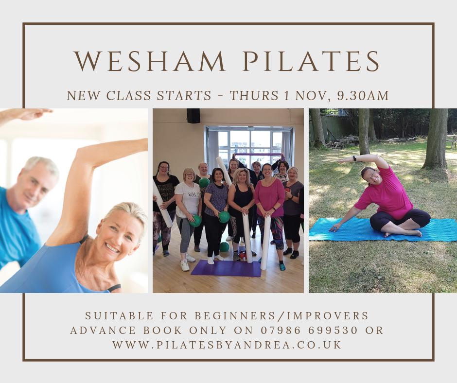 A great new beginners Pilates class starting 9.30am on thursday 1st November.