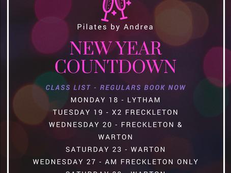 Classes left for 2017