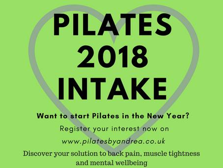 2018 New Starter Intake - Registering now