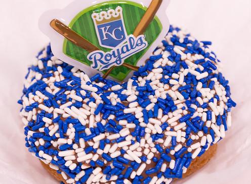 Doughboys Donuts KC Royals themed BYOD