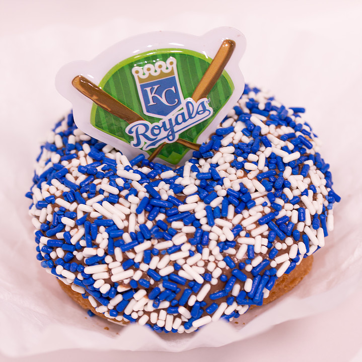 Doughboys Donuts KC Royals themed BYOD