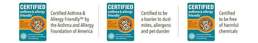 Certified Asthma & Allergy friendly. Certifications: Foundation of America, Society of Canada & United Kingdom