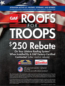 ROOFING MILITARY DISCOUNT