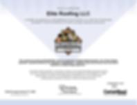 Shingle Master CertainTeed Certificate