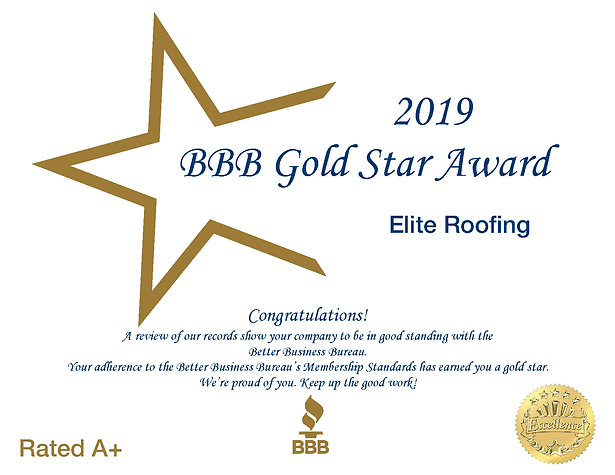 A+ BBB Rated Elite Roofing