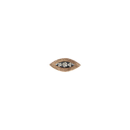 Kismet by Milka 14ct rose gold and champagne diamond evil eye stud (single)