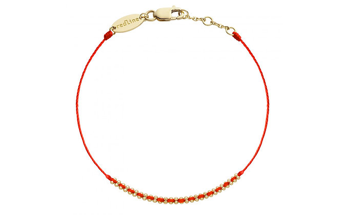 Redline 18ct gold and red 'Eclipse' thread bracelet