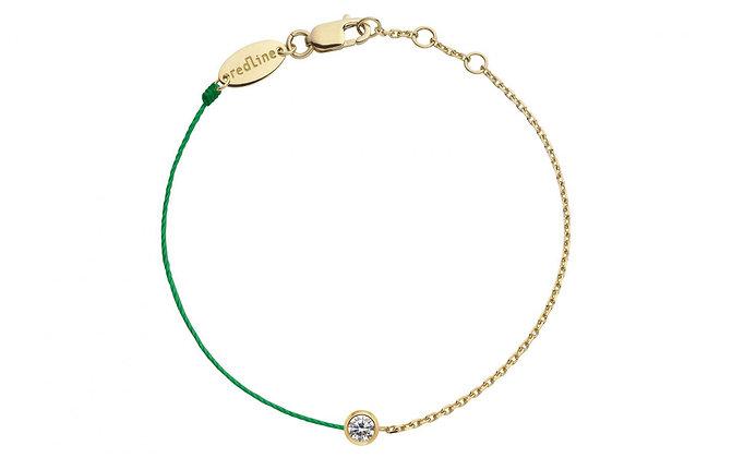 Redline 18ct gold chain and emerald thread diamond bracelet