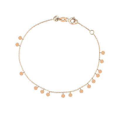 Kismet by Milka 14ct rose gold dangle circles bracelet