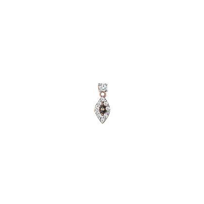 Kismet by Milka 14ct rose gold and diamond dangle eye stud (single)